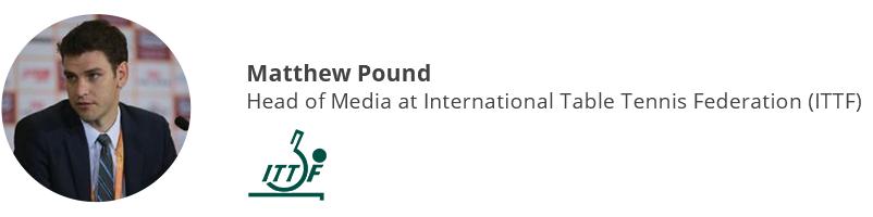 Matthew Pound, International Table Tennis Federation (ITTF)