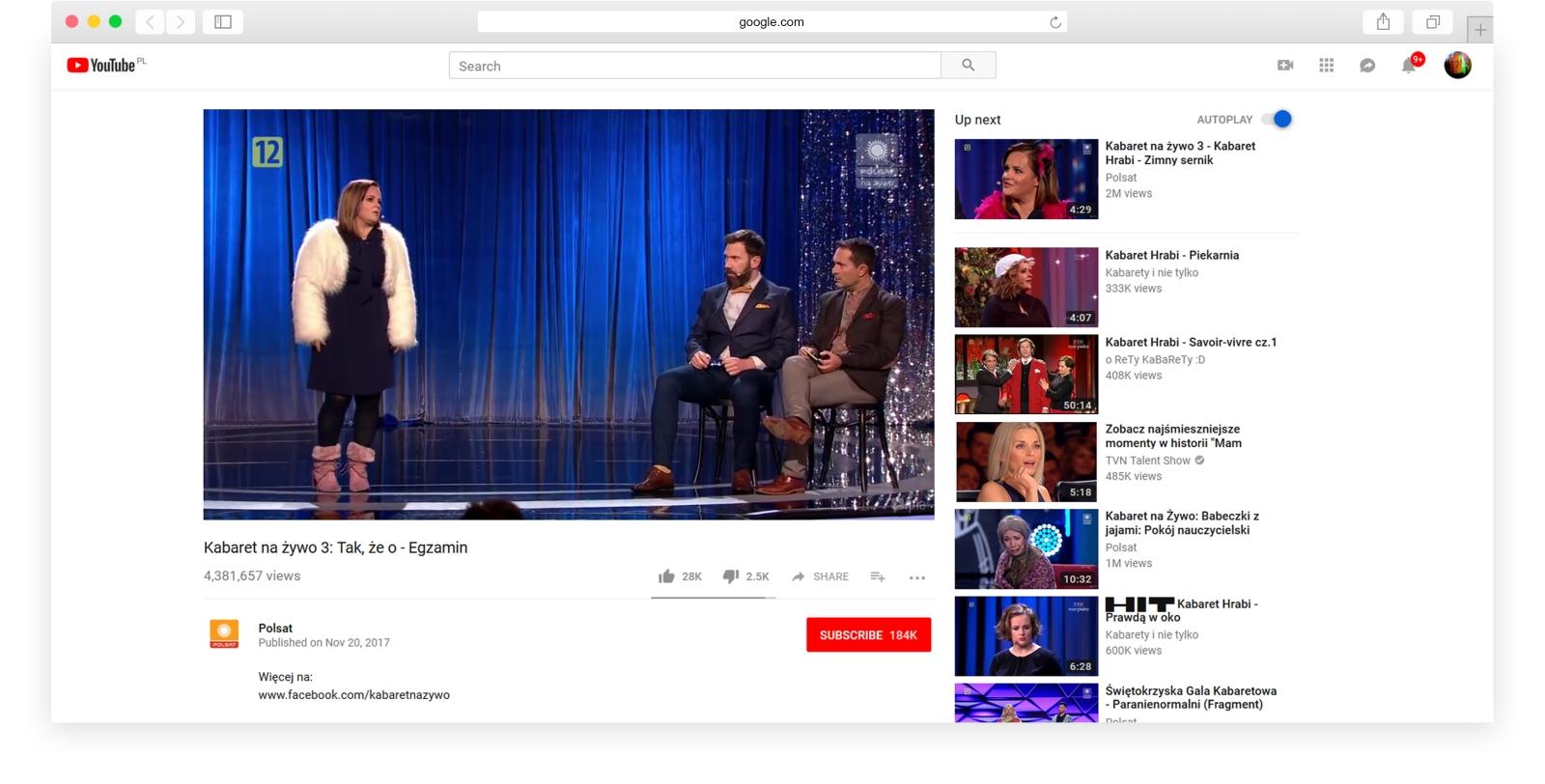 Polsat's YouTube channel