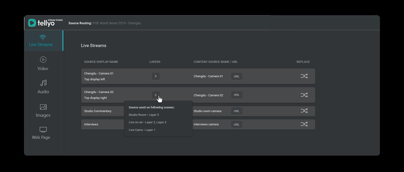 Stream Studio - Source Routing