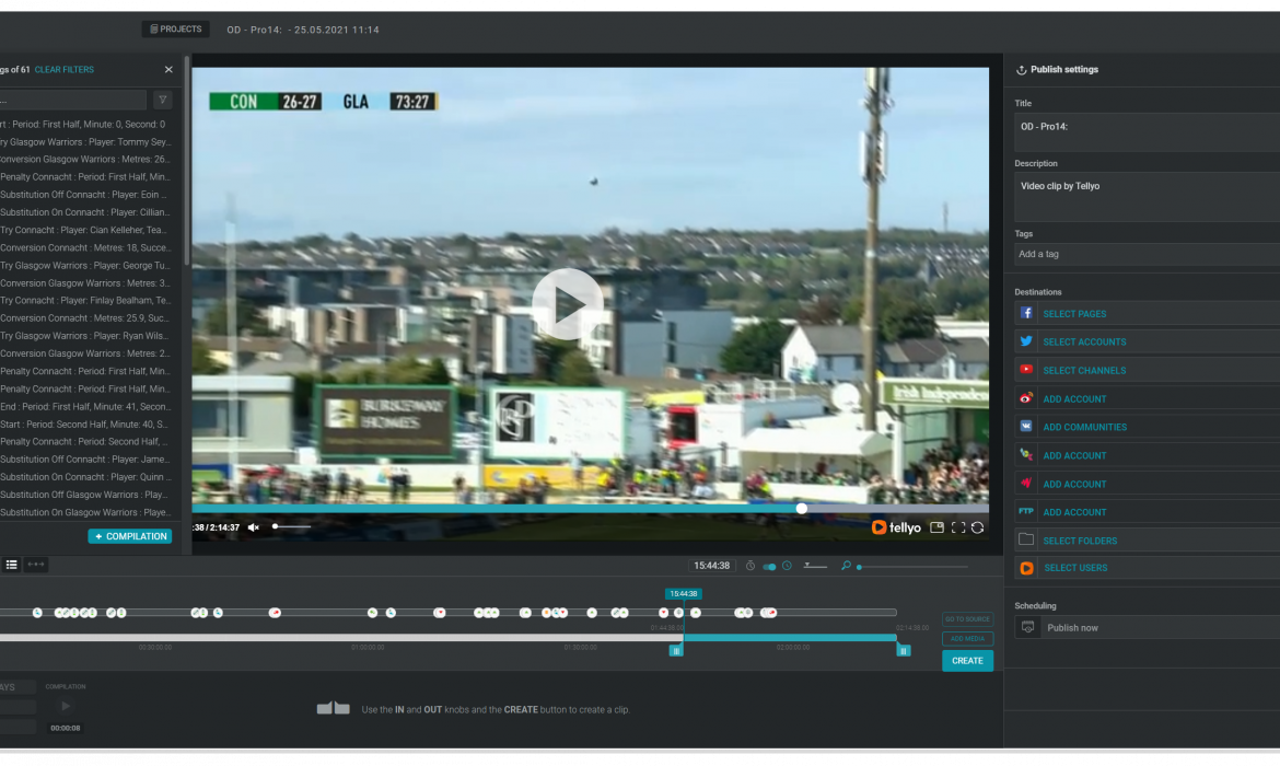 Guinness PRO14 – how video results skyrocketed for this unique and amazing tournament